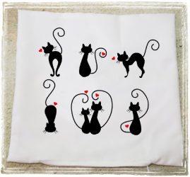 Valentin párna cicák